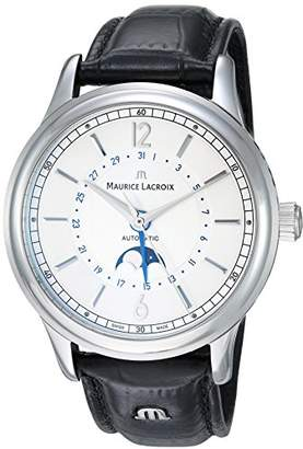 Maurice Lacroix Men's 'Les Classiques' Swiss Automatic Stainless Steel and Leather Casual Watch