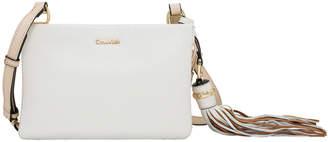 Calvin Klein Ruby Zip Top Crossbody Bag H8AEA7UR_WHT