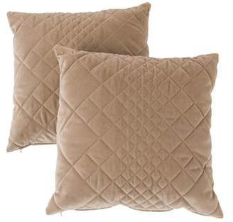 Fendi Pair of Quilted Throw Pillows