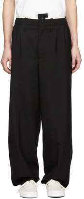 Camiel Fortgens Black Worsted Suit Trousers
