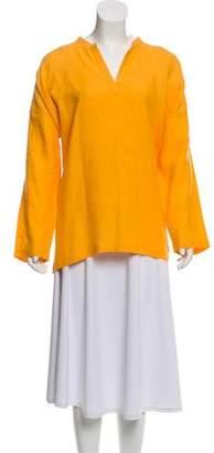 eskandar Linen Long Sleeve Top