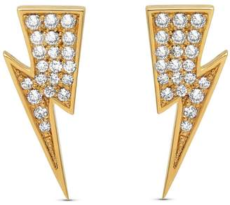 Lightning Bolt Established Diamond Studs - Yellow Gold