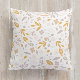 Floral Confetti Square Pillow