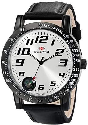 Seapro Men's SP5110 Raceway Analog Display Quartz Black Watch