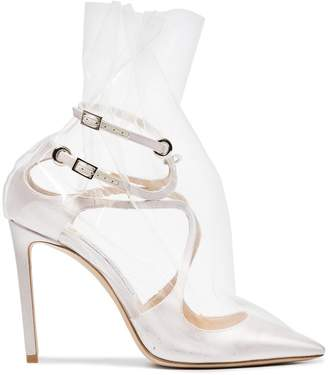 Off-White C/O Jimmy Choo Claire 100 Satin Pumps