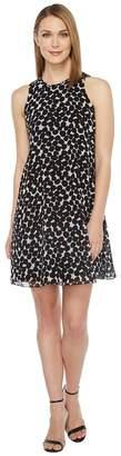 Calvin Klein Polka Dot Trapiz Dress Women's Dress