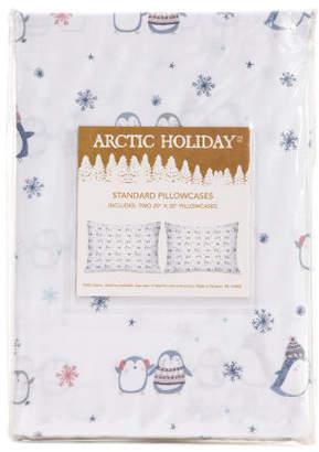 Happy Christmas Penguins Pillowcase Set