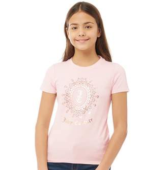 Juicy Couture Girls Starlight Cameo Short Sleeve T-Shirt Whisper Pink