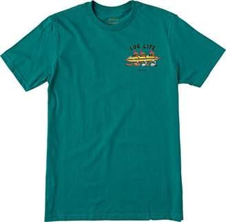 RVCA Men's Log Life Short Sleeve T-Shirt