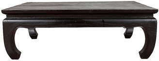 One Kings Lane Vintage Thai Teak Black Lacquered Coffee Table - FEA Home