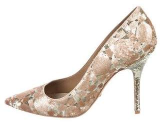 Christian Dior Cherie Pointy Sequin Pumps