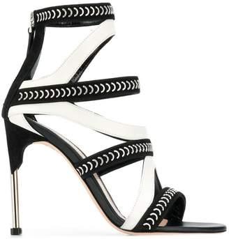 Alexander McQueen two-tone strap sandals