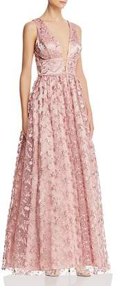 8623ae6ad43a Avery G Floral Embroidered Tulle Gown