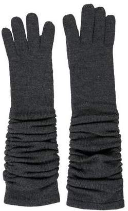 Alice + Olivia Wool Ruched Gloves