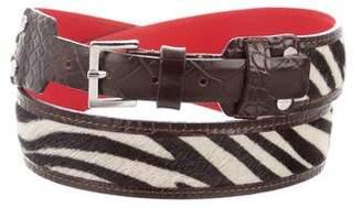 Max Mara Ponyhair Buckle Belt