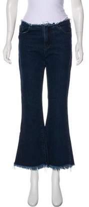 Marques Almeida Marques' Almeida Mid-Rise Flared Jeans