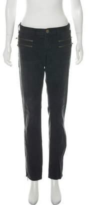Current/Elliott Multi-Zip Skinny Low-Rise Jeans