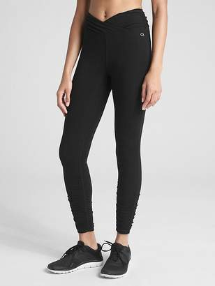 Gap GFast High Rise Ruched Leggings in Performance Cotton