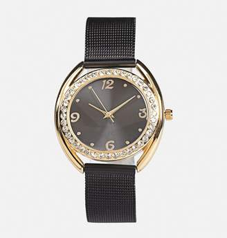 Avenue Gold Face Mesh Strap Watch