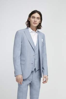 Sky Blue Marl Suit Jacket
