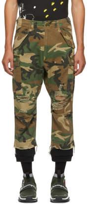 R 13 Green Camo Harem Cargo Pants