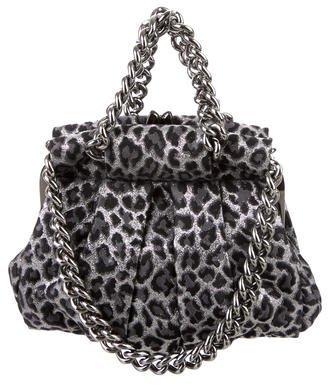 Christian Louboutin Christian Louboutin Leopard Jacquard Loubinette Bag