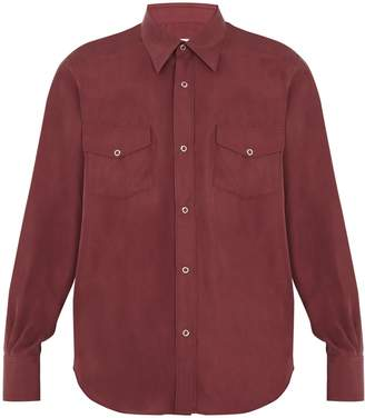 COBRA S.C. Ranger point-collar silk shirt