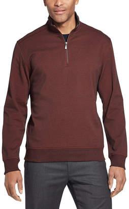 Van Heusen Flex Fleece Quarter-Zip Sweater