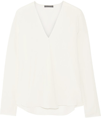 Theory - Silk Blouse - Off-white $255 thestylecure.com