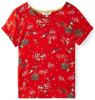Yumi Girls Girls Park And Bicycle Print T-Shirt