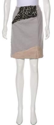 Yigal Azrouel Embellished Knee-Length Skirt