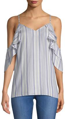 Supply & Demand Amber Striped Blouse