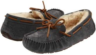 fur trim moccasins - Black UGG