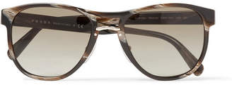 Prada D-Frame Acetate And Gold-Tone Sunglasses