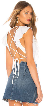 superdown Leslie Lace Up Back Bodysuit