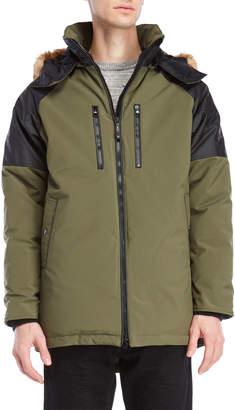 N. Cmfr Belmont Real Fur Trim Hooded Down Coat