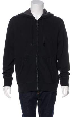 Burberry Smoke Check-Lined Equestrian Knight Embroidered Hoodie