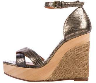 b2fbeb4c9098 Pre-Owned at TheRealReal · Lanvin Metallic Platform Wedges