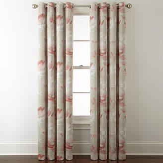 Liz Claiborne JCP HOME Kathryn Floral Room Darkening Grommet Top Curtain Panel