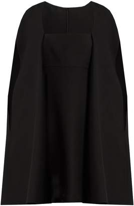 Valentino Cape-back wool and silk-blend mini dress