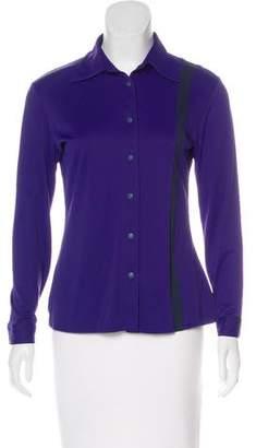 Versace Jersey Button-Up Top