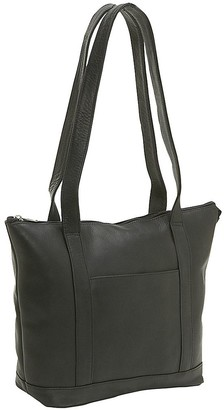 Le Donne Leather Double-Strap Small Pocket Tote