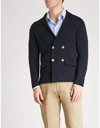 Emporio Armani Double-breasted cotton-blend cardigan