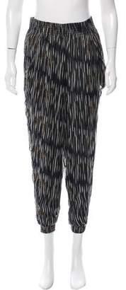 IRO Calder Printed High-Rise Pants