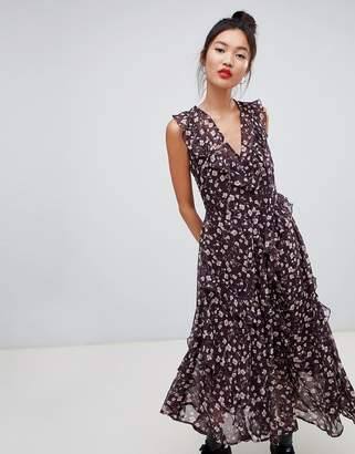 Daisy Street tiered floral maxi dress with ruffle detail