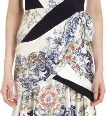Prabal Gurung Sleeveless Floral Print Dress