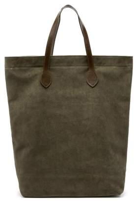 Officine Generale Rectangular Suede Tote Bag - Mens - Khaki
