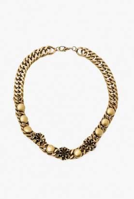 Nicole Romano Button Stud Chain Necklace