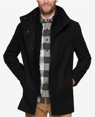 Andrew Marc Men's Car Coat with Knit Inset