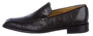 Mezlan Lizard Dress Loafers